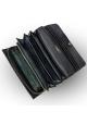 Leather wallet for women - large wallet purse BULLAZO