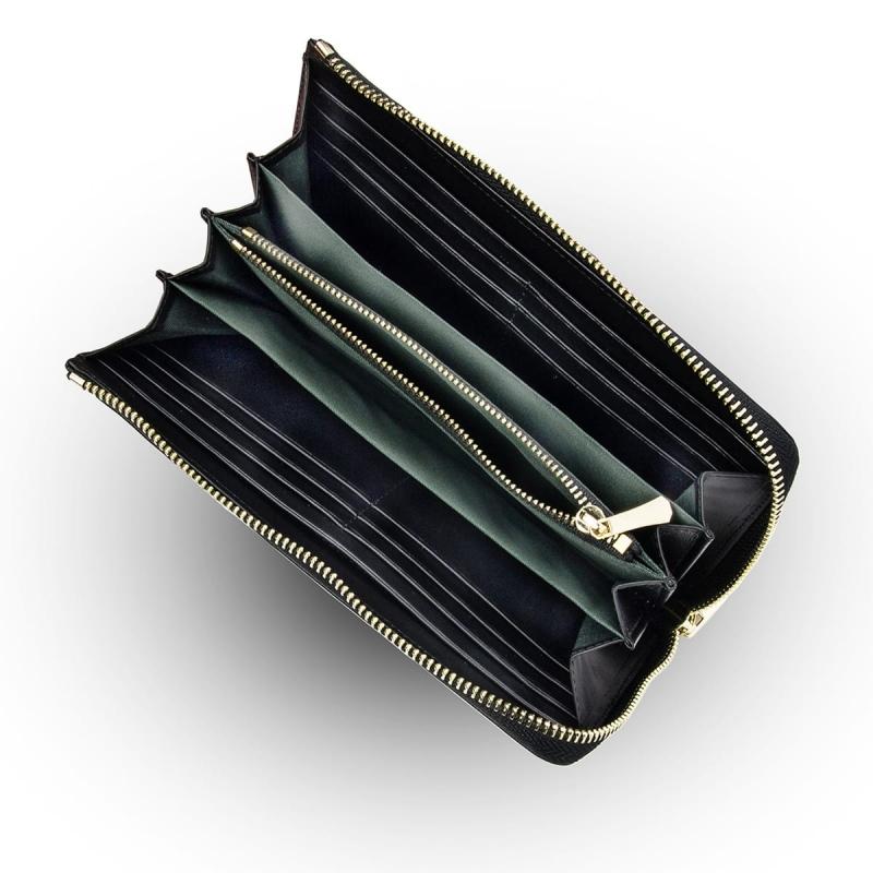 Geldbörse Damen Groß Mit Reißverschluss Leder Portemonnaie Damen