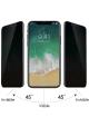 Displayschutzfolie iPhone X mit Blickschutz