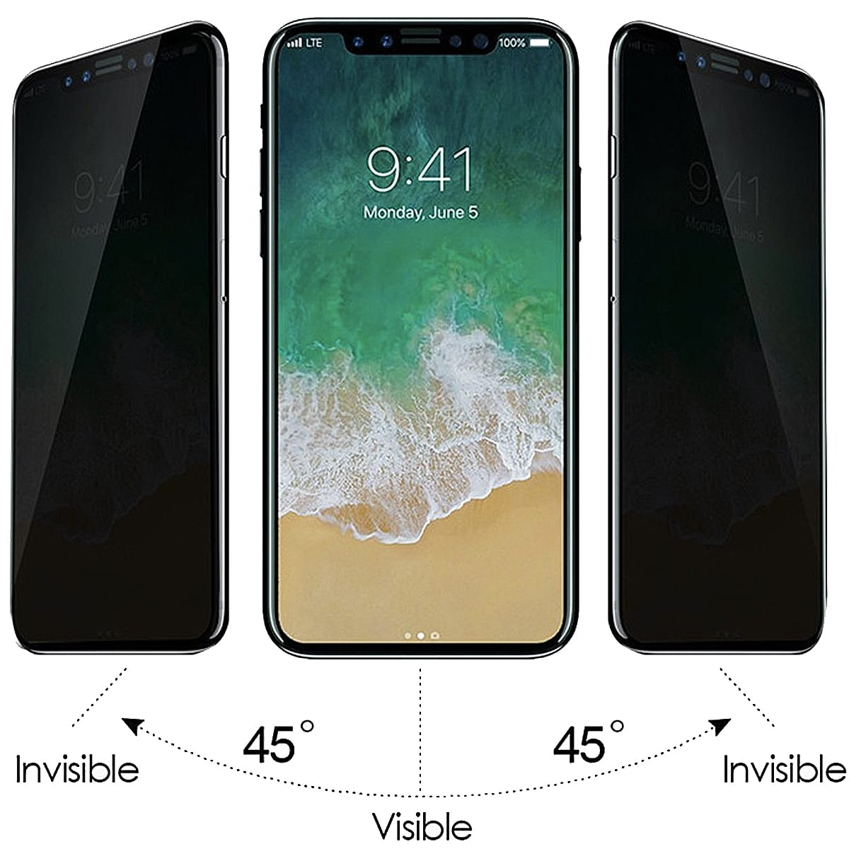 buy popular 8ca09 f20bb Screen Protector iPhone X with Privacy Screen