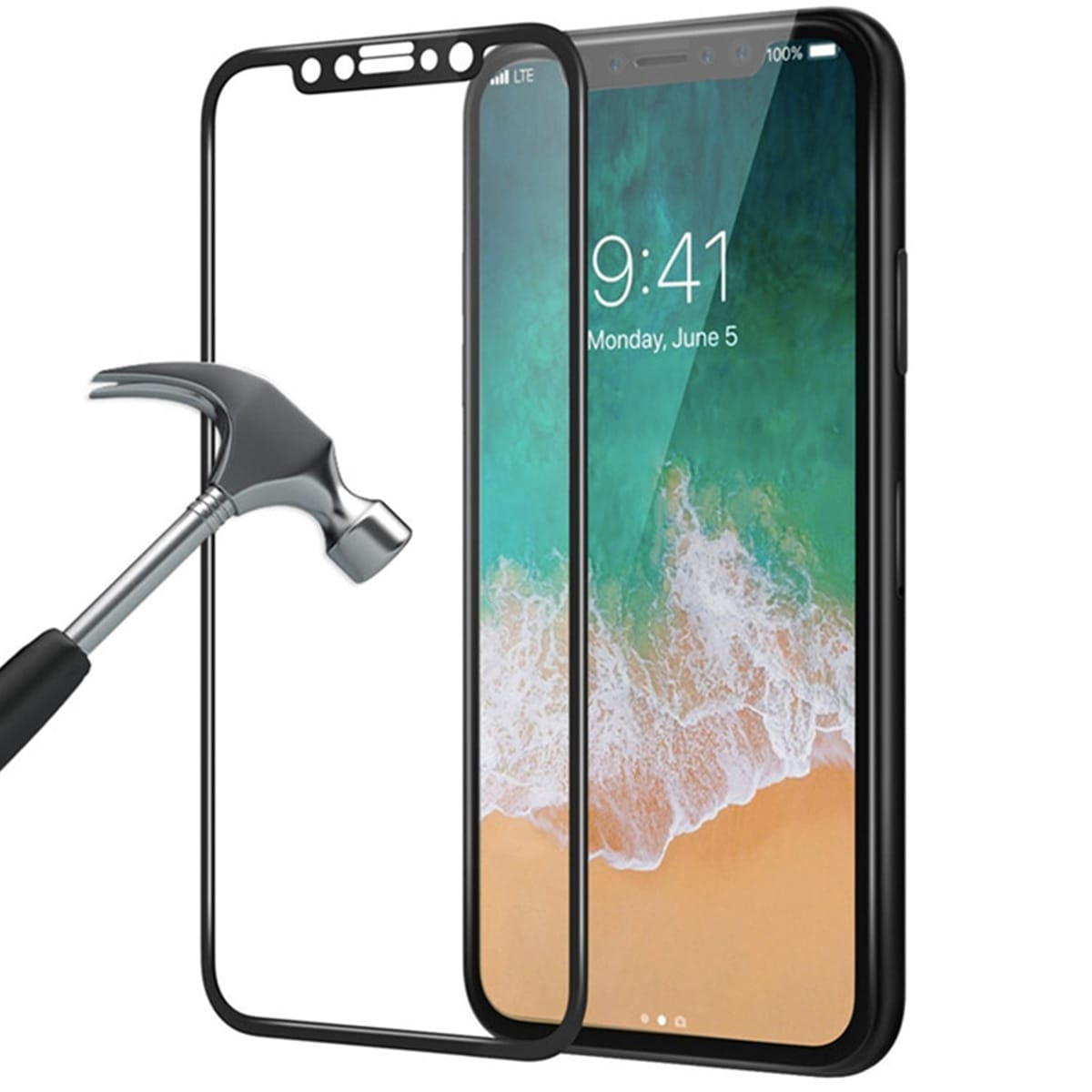 san francisco 452fd 745bd iPhone X Screen Protector Armoured Glass Full Cover