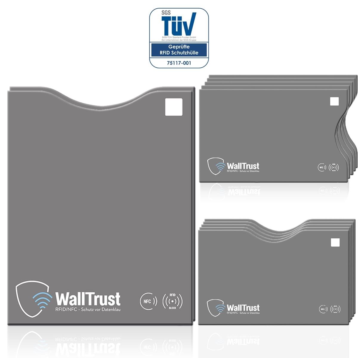 RFID / NFC Schutzhüllen 12er-Set für Kreditkarten und Ausweise