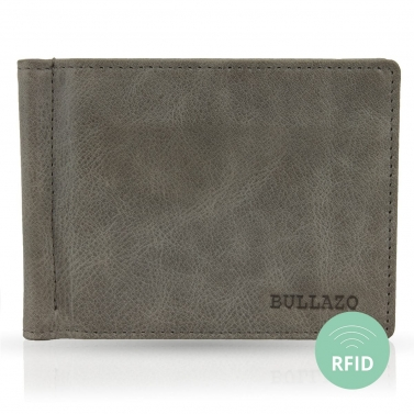 Slim wallet for men with moneyclip BULLAZO