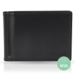 Moneyclip wallet for men with RFID NFC Blocker