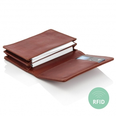 Leather business card holder case BULLAZO