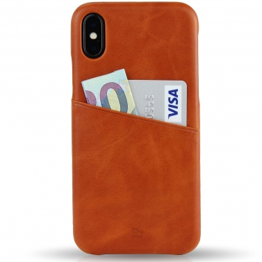 IPHONE X Leather Case - With Card Pocket