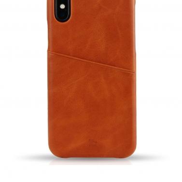 IPHONE X Hülle aus Leder - Mit Kartenfach