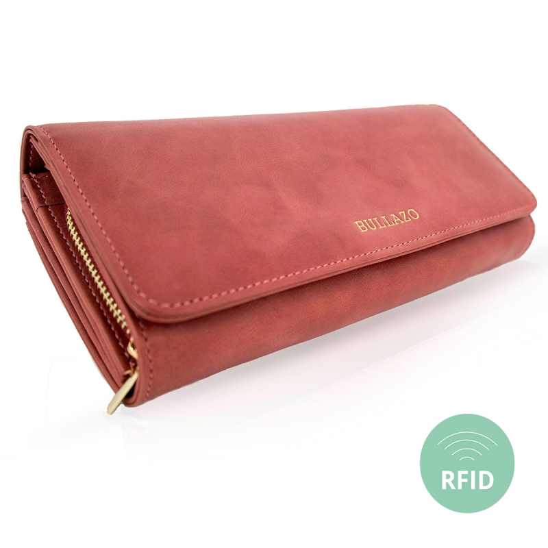 e09e92a770 ... Leather wallet for women - large wallet purse BULLAZO ...