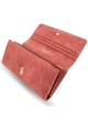 Leather wallet for women - large wallet purse BULLAZO