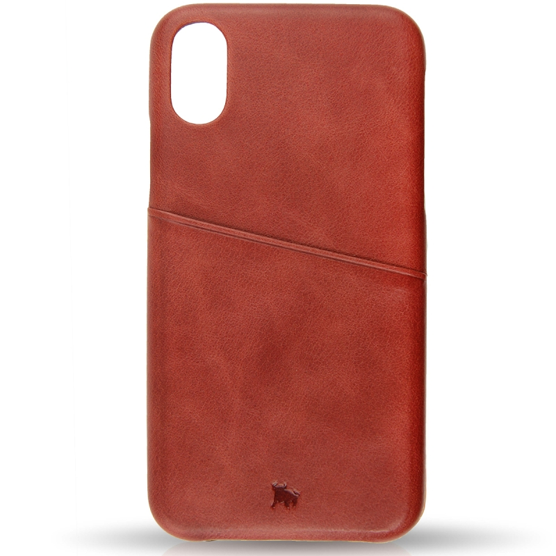 cheap for discount 5f67b f5ed6 IPHONE X / XS Leather Case - With Card Pocket - BULLAZO GmbH